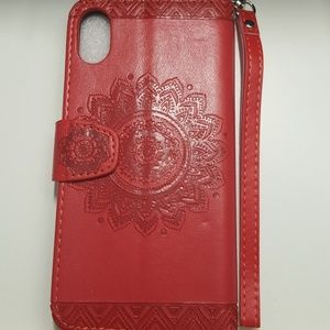 """unbranded Accessories - Wallet case for iphone xs max 6.5"""" color red new"""